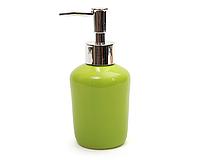Диспенсер керамический для жидкого мыла 15,3 см, зеленый