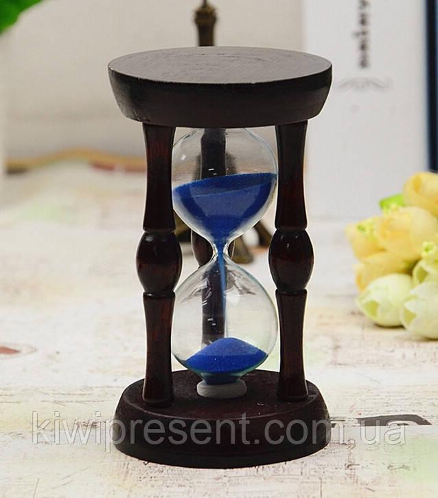 Часы песочные в дереве сувенирные