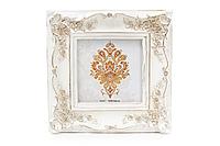 Рамка для фото квадратная Розы 16,5*16,5 см, белый с золотом