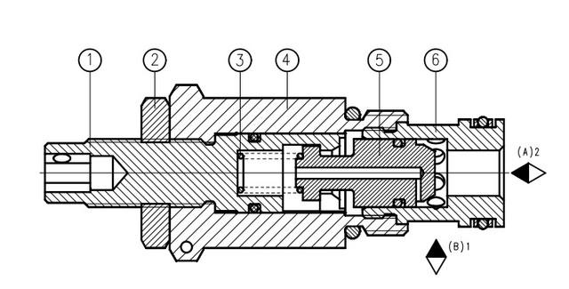 Дроссель с обратным клапаном UDZD6x
