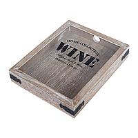 Ящичек для винных пробок Wine 25,5*20,5*4 см