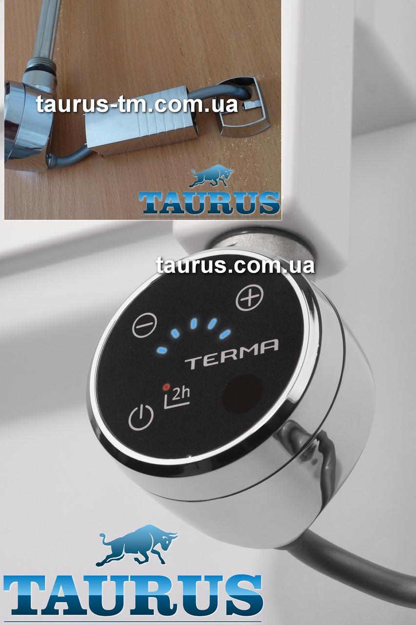 Электрический ТЭН TERMA MOA IR MS chrome (маскировка провода) с регулятором + таймер 2ч. + под пульт ДУ + звук