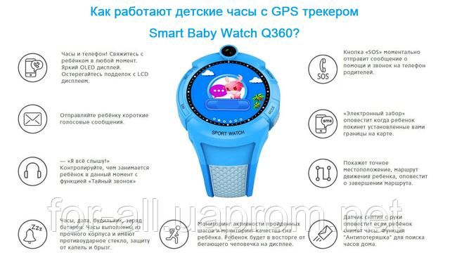 Как работают детские часы Smart Baby Watch Q360 с GPS трекером, камерой и фонариком
