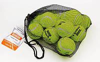 Мяч для большого тенниса TELOON (12шт) 8010412 COACH 4 (в сетчатом мешке)