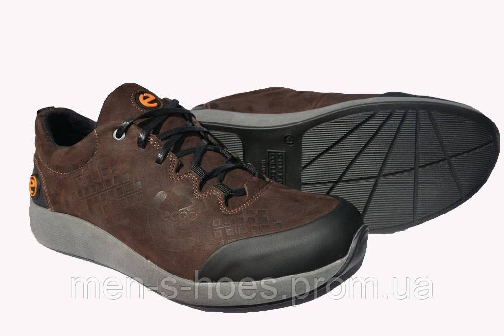 Мужские кроссовки Єссо Brown кожаные качественные