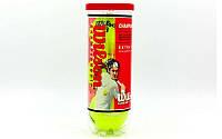 Мяч для большого тенниса WILS (3шт) T1001-D US OPEN (в вакуумной упаковке)