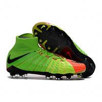 Футбольные мужские бутсы Nike Hypervenom Phantom III FG Electric Green, фото 1