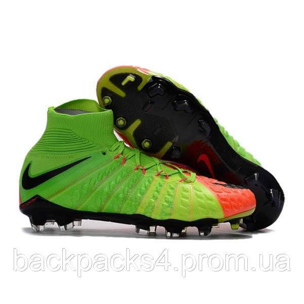 0e4f7e38 Футбольные мужские бутсы Nike Hypervenom Phantom III FG Electric Green -  Sports-Life в