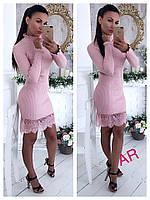 Женское шикарное платье с кружевом (расцветки), фото 1