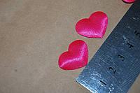 Тканевый декор Сердце розовое