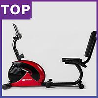 Горизонтальный велотренажер Hop-Sport HS-65R VEIRON red/black . ГАРАНТИЯ 2 года, для дома и спортзала