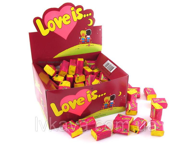 Жевательная резинка  Love is со вкусом вишни и лимона , 4,2  гр х 100 шт