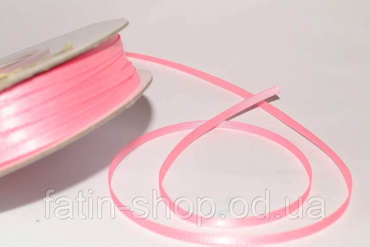 Лента атлас ширина 3,2мм цв.Pink