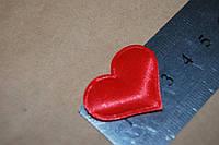 Тканевый декор Сердце красное среднее.