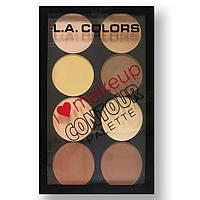 Палитра для контуринга лица LA Colors I Heart Makeup Contour Palette Light/Medium