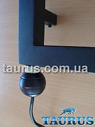 """Чёрный мини электроТЭН для полотенцесушителя TERMА REG2 black: подсветка + кнопка питания. Поддержка 65C; 1/2"""""""