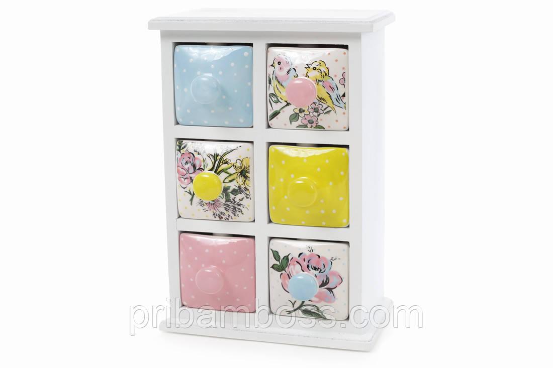 Мини-шкаф для хранения специй Птички