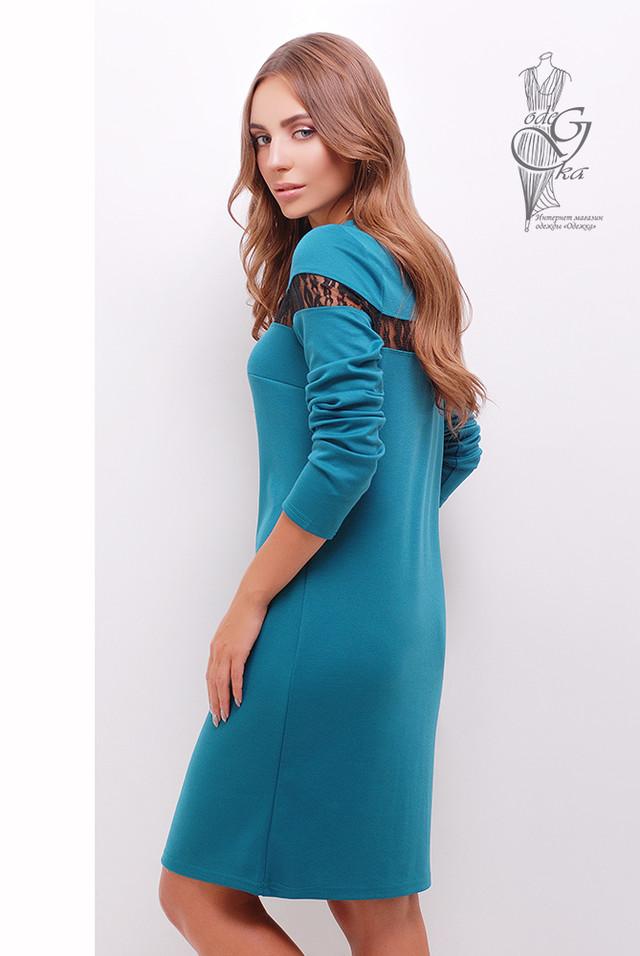 Фото-1 Делового платья с кружевом Флора-4