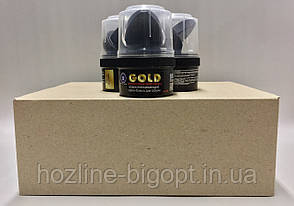 GOLD Крем-Блеск для обуви с воском 60 мл ЧЕРНЫЙ
