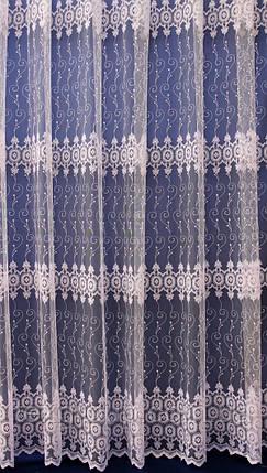 Тюль белого цвета из фатина 8P5653, фото 2