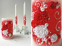 Свадебные свечи семейный очаг, красные