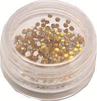 Камни цветные в банке плоские(золото)