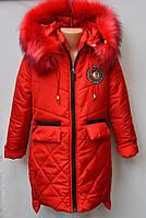 Удлиненная зимняя куртка для девочки №49