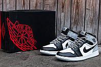 Мужские кроссовки Nike Air Jordan 1 Retro (Найк Аир Джордан) черно-белые