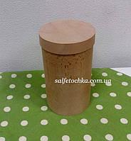 Круглая коробка шпон (90*160мм.)