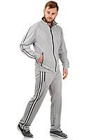 Трикотажный мужской костюм светло-серый