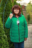 Куртка женская K&L осенняя модная ботал цвет Зеленый - Изумруд