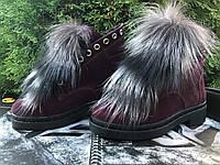 Ботинки женские, натуральная замша