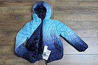 Теплая куртка на синтепоне ( подкладка- мех ). 4 года.