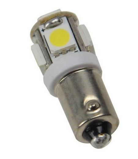Автолампа светодиодная H6W-BAX 5smd- на 5 светодиодов
