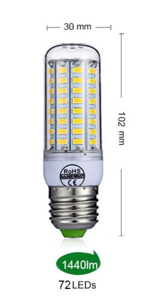 Лампа Epistar E27 кукуруза 27W  72 led
