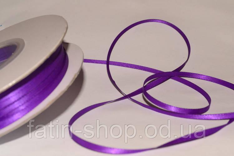 Лента атлас ширина 3,2мм цв.Purple