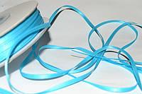 Лента атлас ширина 3,2мм цв.Turquoise