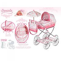 Коляска для кукол классическая с зонтом и сумкой Daniela DeCuevas 81021. Ручка 81 см