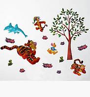 """Наклейка Виниловая """"Тигра под деревом"""""""