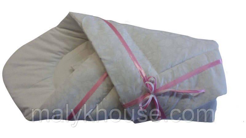 Конверт-ковдру дитячий з стрічкою зимовий