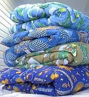 Зимнее стеганное одеяло овчина полуторное бязь