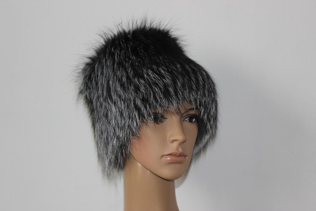 Меховая шапка из чернобурки