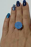 Кольцо из серебра 925, золотых напаек 375 и синего циркония Небосвод