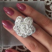 Шикарное 3D Кольцо в форме цветка
