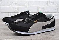 Кроссовки мужские замшевые Puma Speeder черные с серым Индонезия, Черный, 45