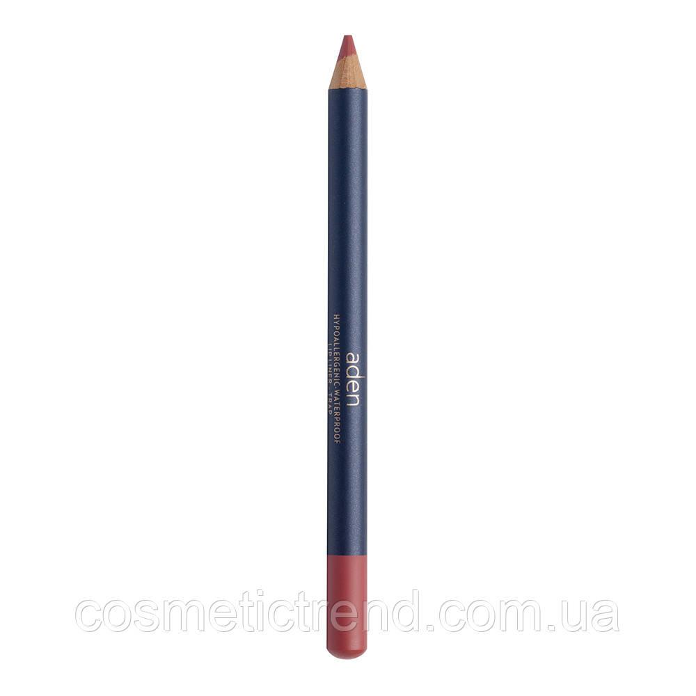 Карандаш для губ водостойкий деревянный Lipliner Trap #54 (натуральный) Aden Cosmetics