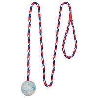 Игрушка для собак Мяч на веревке с ручкой 5см/1м Trixie 3304