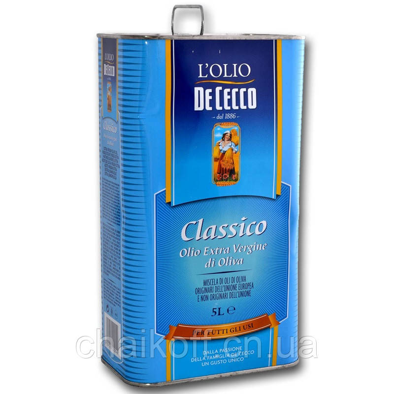 Масло оливковое De Cecco il classico extra vergine 5 л