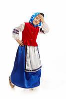 Детский костюм Бабка в платке, рост 115-125 см