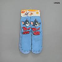 """Домашние носочки-тапочки """"Том и Джерри"""", р.30-31 (длина по подошве 19 см)"""